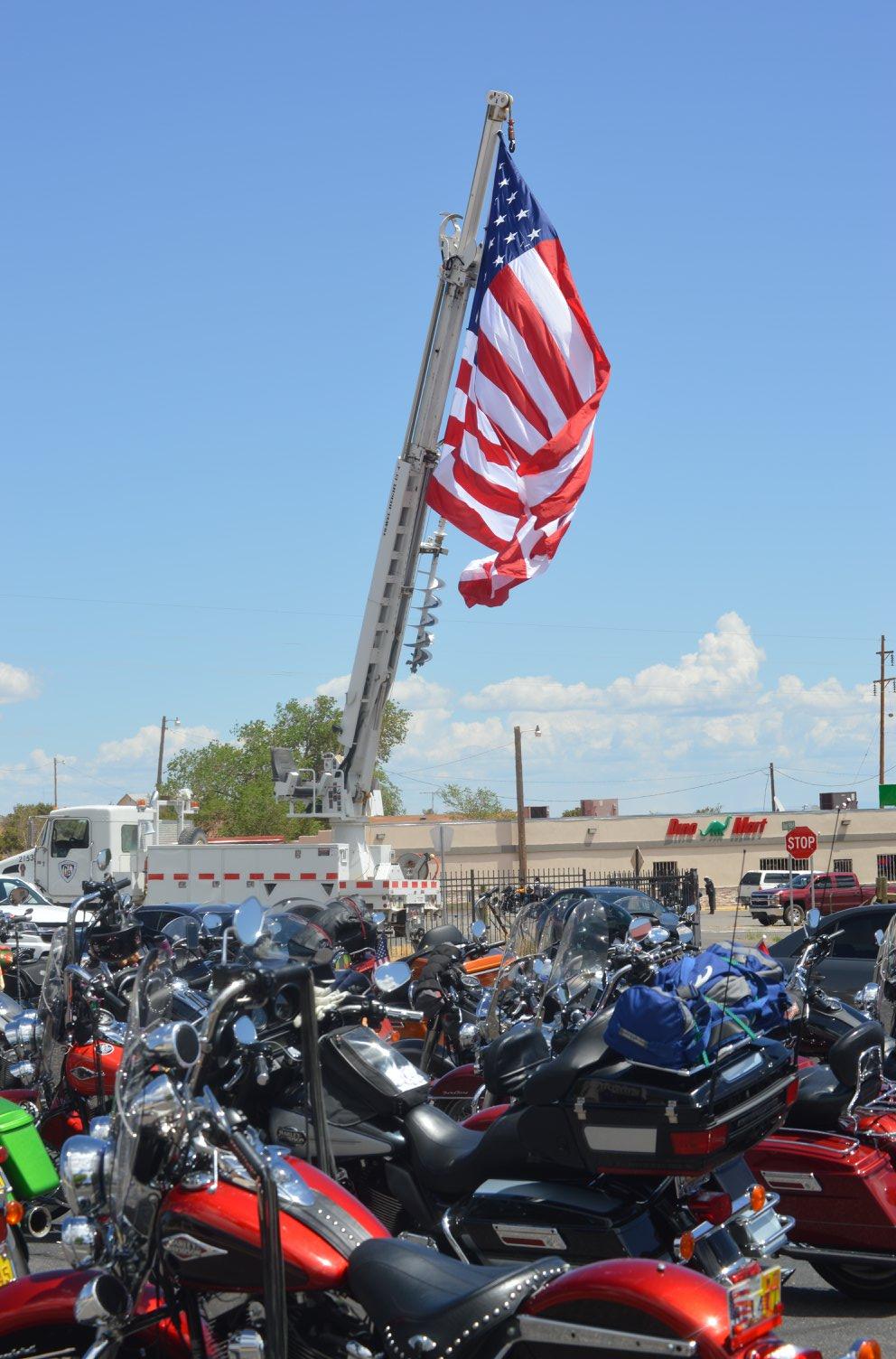 NTUA displayed American Flag