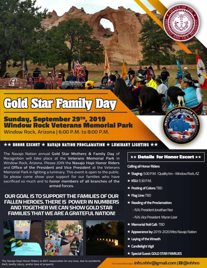 Navajo Nation Gold Star Mothers Families