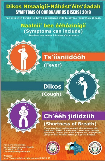 corvid19 virus in Navajo